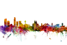 Canvas print - Liverpool Skyline