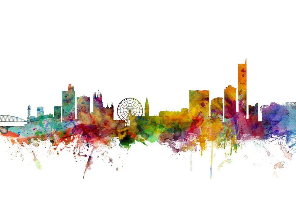 Manchester Skyline Wall Mural Amp Photo Wallpaper Photowall