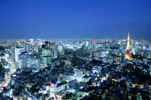 Canvas print - Bright City Lights in Tokyo