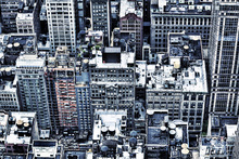 Canvas-taulu - High Contrast Manhattan Buildings