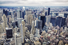Wall Mural - Aerial View of Manhattan