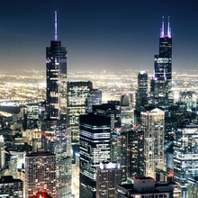 Fototapet - Chicago Nightlights