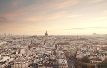 Canvas print - Sunset over Paris