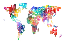 Wall Mural - Typographic Text World Map 2
