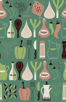 Wallpaper - Vinegar - Green