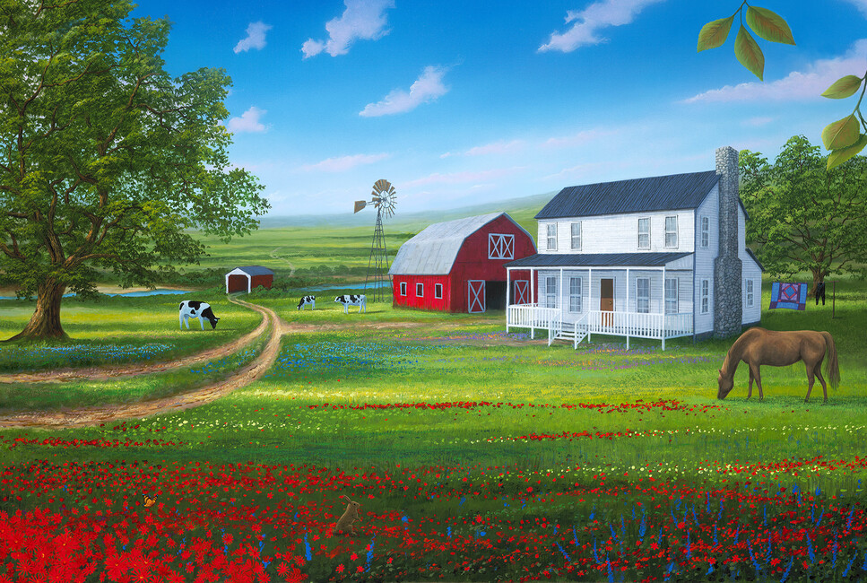 Country living wall mural photo wallpaper photowall for Country wall mural