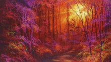 Wall mural - Ruby Forest