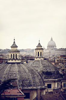 Canvas print - Domes of Rome