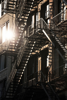 Fototapet - 17th Street Fire Escapes