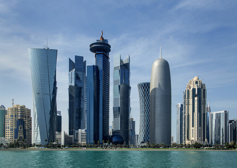 Doha Skyline Wall Mural Amp Photo Wallpaper Photowall