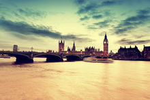Wall mural - London Golden Evening