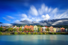 Canvas print - Clouds over Innsbruck