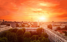 Canvas print - Glowing Sunset over Berlin