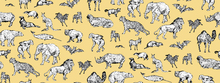 Tapete - Lots of Animals Yellow