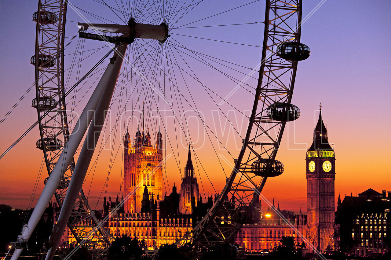 London wallpaper wall murals photowall wall mural london eye amipublicfo Choice Image