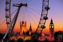 Wall mural - London Eye