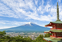 Lerretsbilde - At the Foot of Mount Fuji