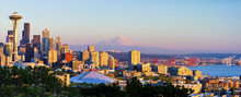 Leinwandbild - Seattle and Mount Rainier