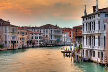 Canvas print - Grand Canal at Dusk