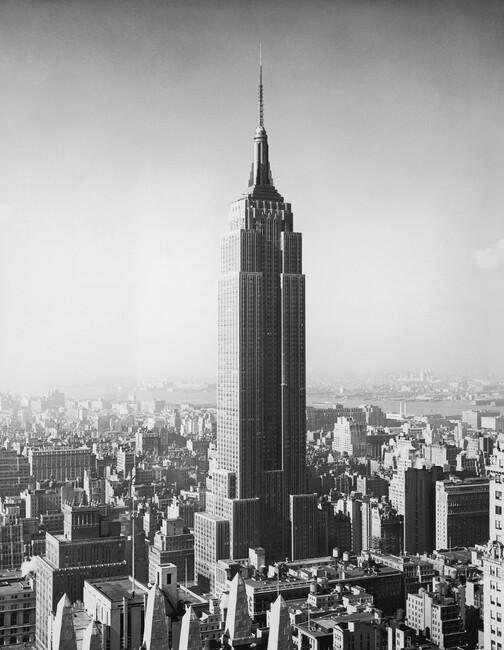 1955 the empire state building wall mural photo for Empire state building mural