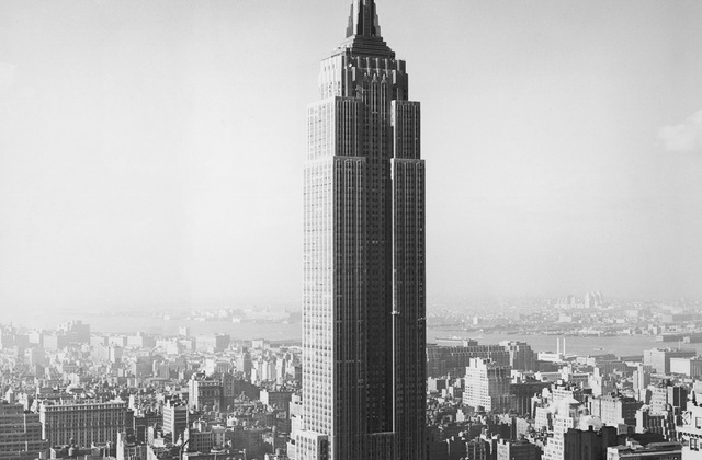 1955 the empire state building wall mural photo for Empire state building wall mural