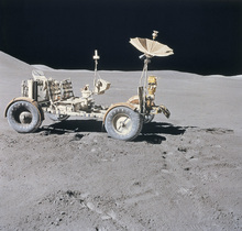 Leinwandbild - Lunar Vehicle on the Moon