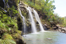 Canvastavla - Triple Waterfalls