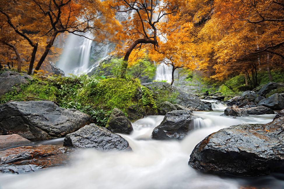 Autumn Waterfall Canvas Print Amp Canvas Art Photowall