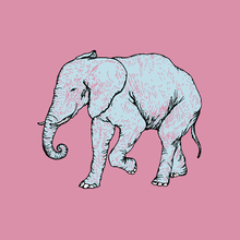 Canvastavla - Elephant Bubblegum