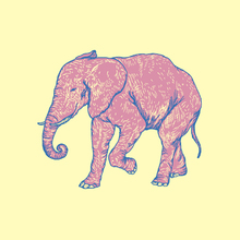 Canvastavla - Elephant Happy