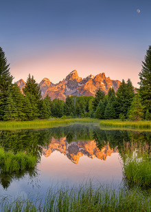 Fototapet - Dawn at Schwabacher's Landing