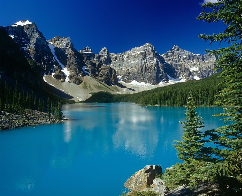 Moraine Lake in Rocky Mountains