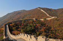 Leinwandbild - The Great Wall in Autumn
