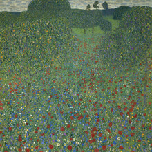 Canvastavla - Klimt, Gustav - Field of Poppies