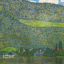 Canvastavla - Klimt, Gustav - Litzlberg on the Attersee