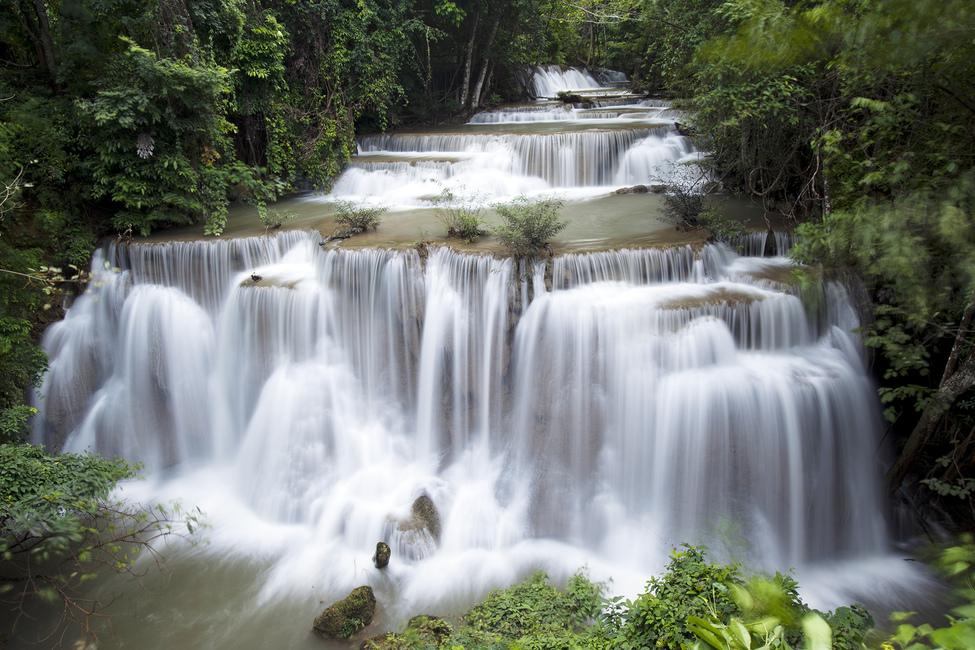 Huay Mae Khamin Waterfall Thailand Wall Mural Amp Photo