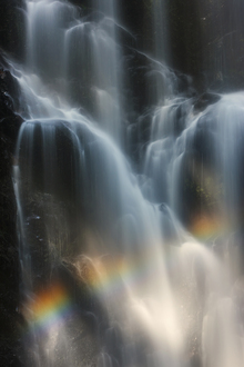 Canvastavla - Berry Creek Waterfalls with Rainbow