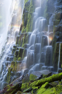 Wall mural - Proxy Falls with Rainbow