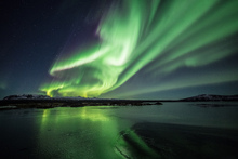 Canvas print - Enchanting Aurora Borealis