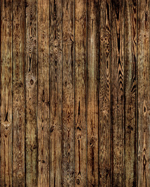 Wallpaper - Wooden Plank Wall - Burned