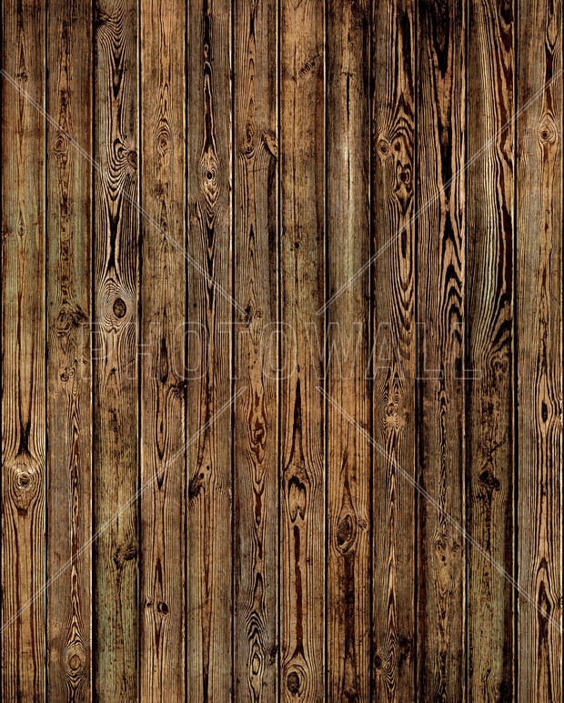 Wooden Plank Wall - Burned