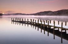 Wall mural - Landing Jetty on Coniston Water