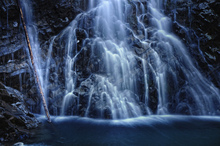 Fototapet - Deep Blue Waterfall