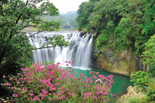 Wall Mural - Shifen Waterfall