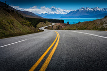Canvas print - Road to Mount Cook
