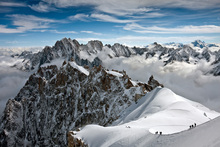 Wall mural - View of overlooking Alps