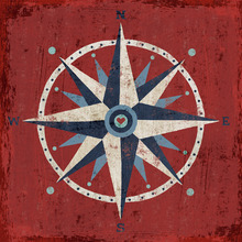 Canvas print - Nautical Love Compass