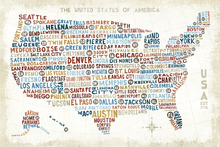 Canvas print - US City Map
