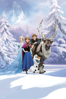 Canvastavla - Frozen - Friends Forever