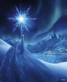 Canvastavla - Frozen - Magic of the Northern Lights